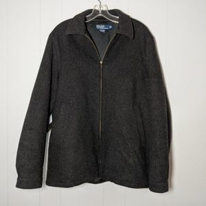 Ralph Lauren Wool Blend Zippered Winter Coat